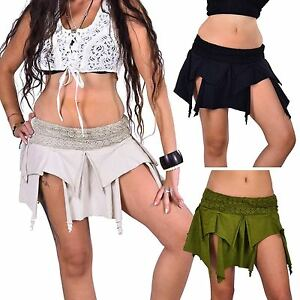 Pixie-Skirt-Psy-Trance-Clothing-Boho-Festival-Miniskirt-Tribal-Goa-Mini