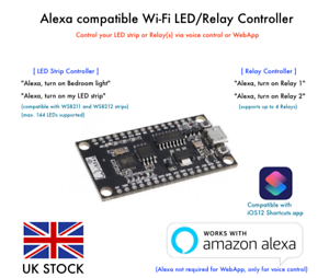 Details about Alexa compatible WIFI Remote Control for LED strip or Relay  NodeMCU