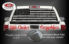 American Flag Distressed Black Grey Rear Window Graphic Decal Sticker Truck Car