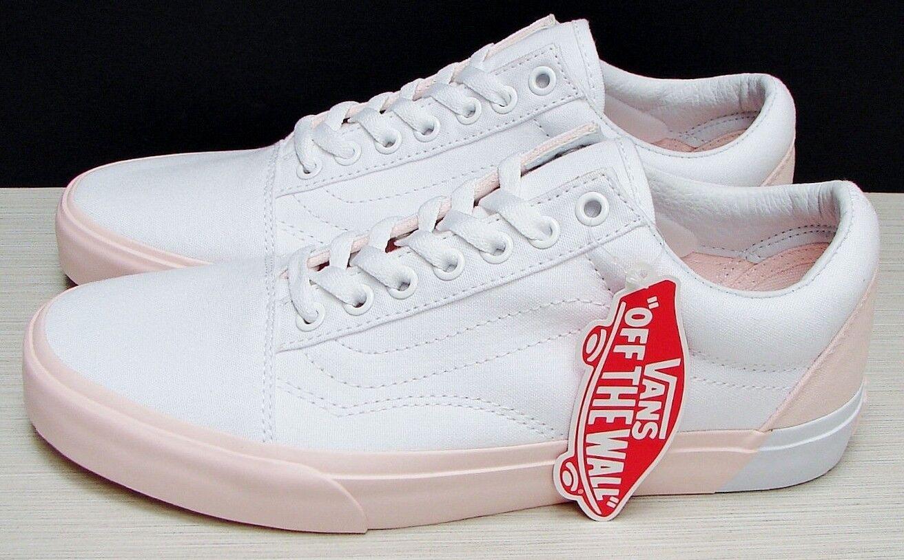 Vans Old Skool Skool Skool Blocked Pearl True White VN0A38G1OC4 Womens  Size  9.5 74106a