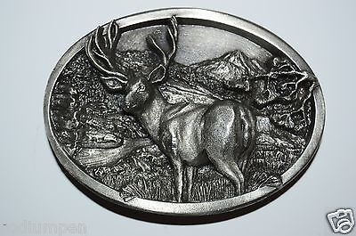 ✖  Buck in woods ✖ Scenic Belt Buckle Buck ✖ Deer Bronze color nice gift USA