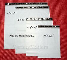 15 Poly Bag Mailer Variety Pack 4 Large Size Self Sealing Shipping Envelopes