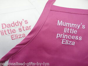 Childrens-Personalised-Apron-Any-mesage-can-be-added-Choice-of-5-colours