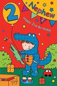 Image Is Loading NEPHEW BIRTHDAY GREETINGS CARDS AGE 2 206132