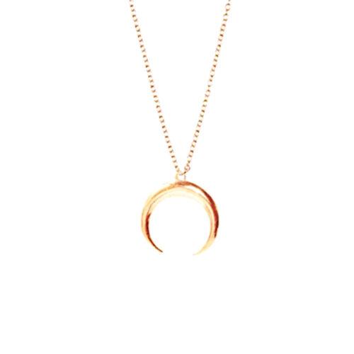 Mode Femme Collier Ras Cou Sautoir Croissant Lune Pendentif Chaîne Bijoux Cadeau