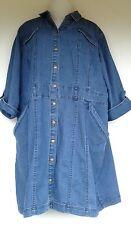 Cato Womens Blue Jean Denim Romper Dress Plus Size 22W 2X Jumpsuit Shirt Jumper
