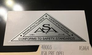 ASA-Manufactures-Certification-Decal-Pre-OPEI-For-Mowers-Engines-1964-To-1972