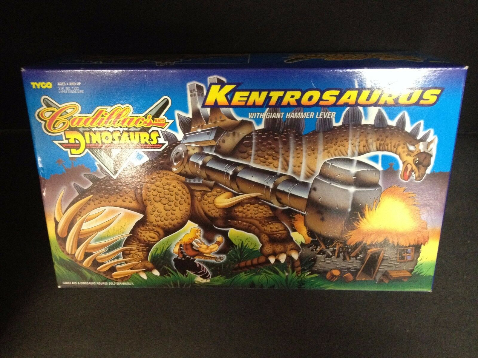 CADILLACS AND DINOSAURS KENTROSAURUS GIANT HAMMER LEVER FIGURE VEHICLE TYCO A2