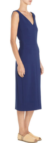 Midi Krepp Neu The Shizzie Stretch Marineblau Row 8 Kleid 6 xwSawYq