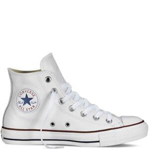 Details zu Converse Chuck Taylor All Star Leather Gr.39.5 Damen Leder Sneaker weiß Chucks