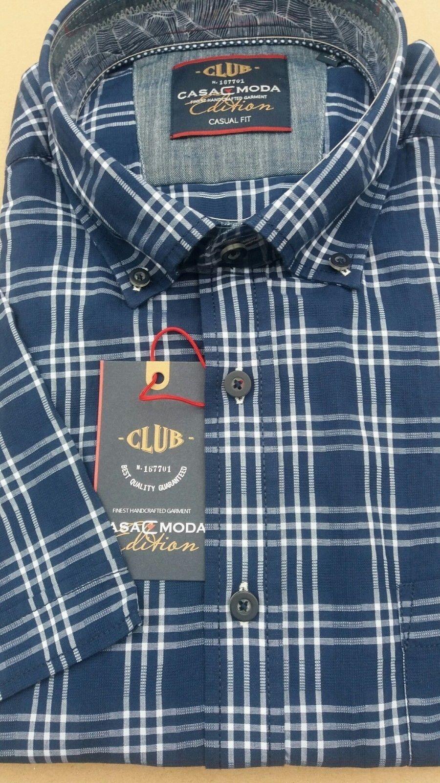 CASA MODA MODA MODA Blu Navy Check Camicia 2XL 3073516 2xl 3XL4XL5XL6XL 7XL 28125c