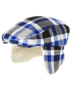 bbb1e4065fb13 Image is loading GYMBOREE-REINDEER-LODGE-PLAID-FLAP-DRIVING-HAT-3-