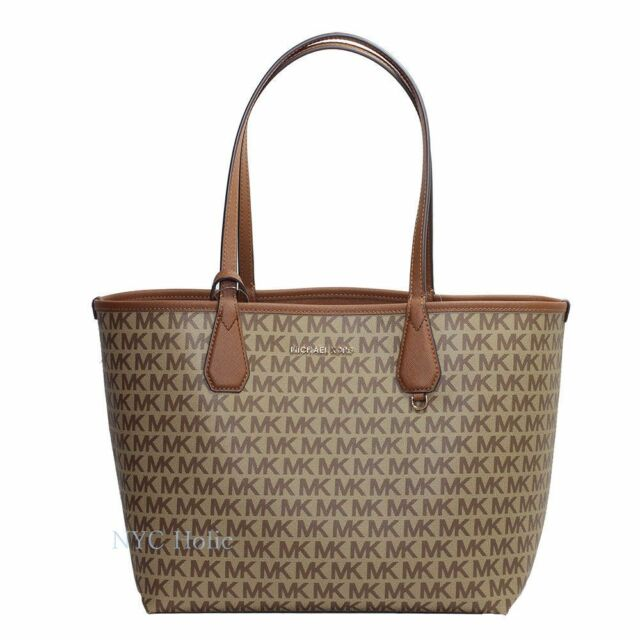 b906ada243b9 Michael Kors 2 in 1 Large Reversible Tote Signature Coated Canvas MK  Saffiano