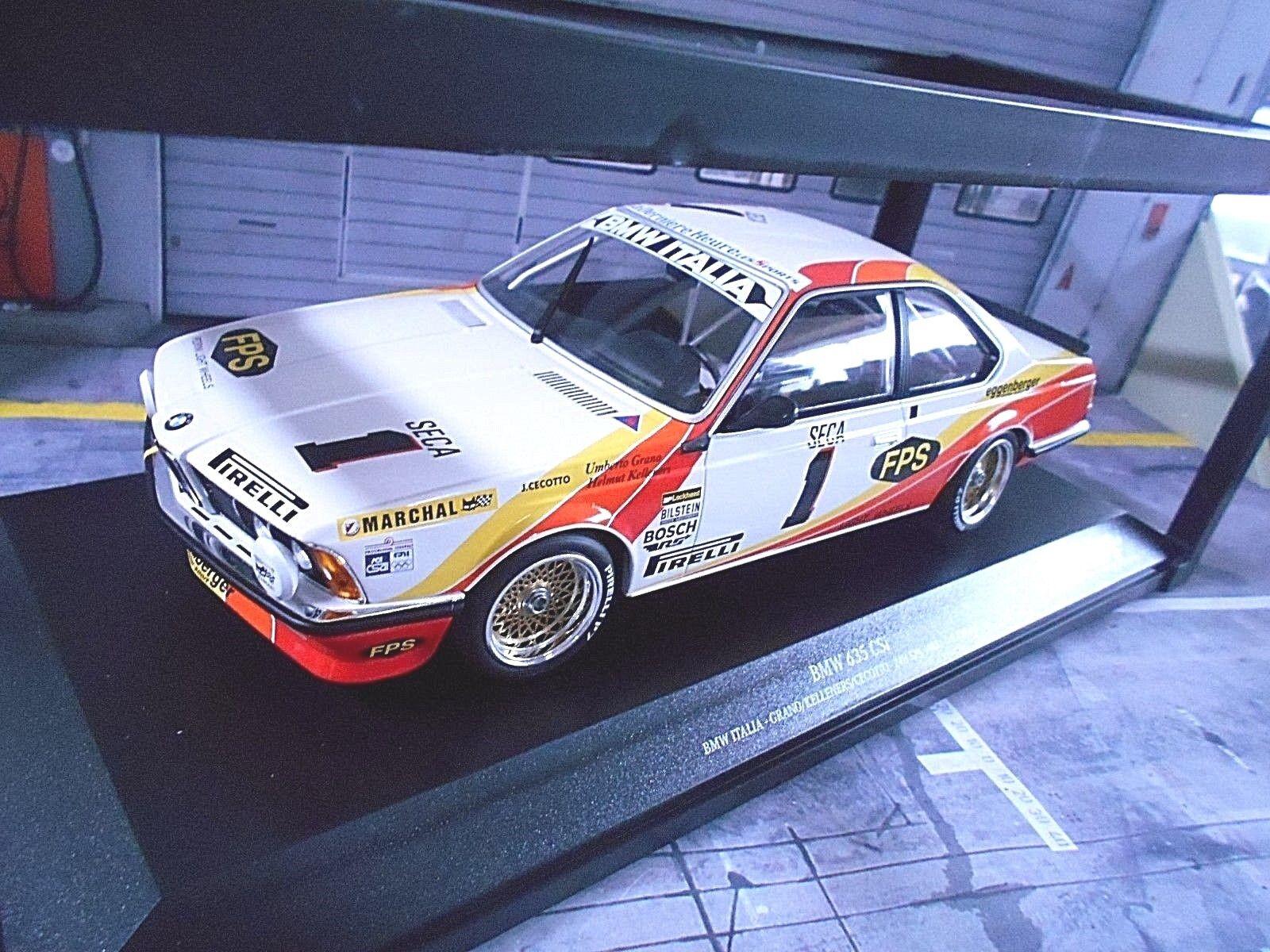 BMW 635 CSI DTM 24 H SPA 1983  1 ITALIA grana CECOTTO Kelleners MINICHAMPS 1 18