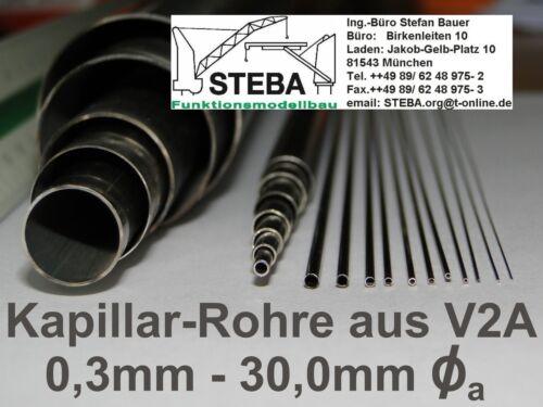 Tube en acier inoxydable CHLORO v2a 1,0mm// 0,1 mm De Chauffage 8130
