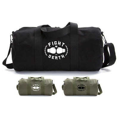 00c9cfcc14 Fight to the Death Army Sport Travel Weekend Gym Heavyweight Canvas Duffel  Bag