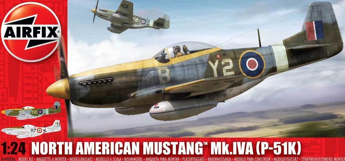 Airfix - North American Mustang Mk.iva P -51k  Rf -51d 1945 - 1 24 modelllllerlerl Kit