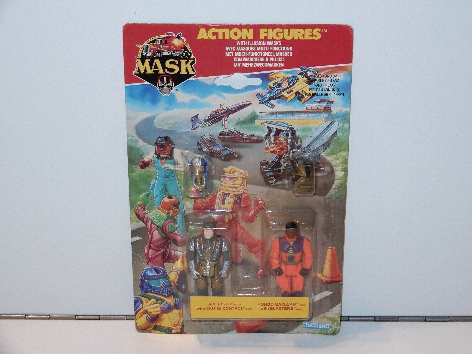 M.A.S.K - 2-PACK ACE RIKER & HONDO MACLEAN MOSC MOSC MOSC KENNER EURO EXCUSIVE RARE c1a476