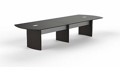 14ft Stylish Modern Office Conference Table With Mocha Laminate Finish Ebay
