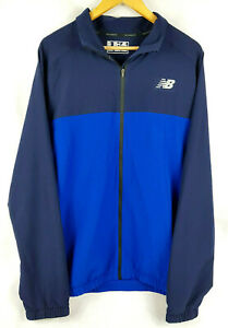 fff8623f8 Details about NEW BALANCE Mens Navy / Light Blue Tenacity Woven Jacket -  Size XL BRAND NEW