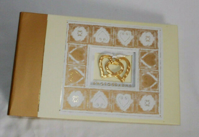 Silver Heart Embossed Wedding Photo Album 100 Photos Wg260 For Sale Online Ebay