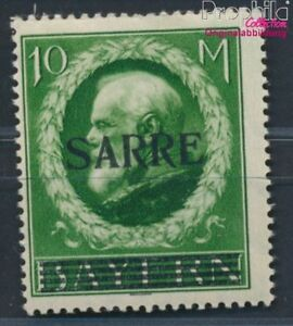 Saarland-31-geprueft-mit-Falz-1920-Bayern-mit-Aufdruck-8940562