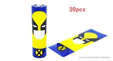 2 x 18650 Battery Sleeve PVC Heat Shrinkable Tube Wrap  18650, Wolverine