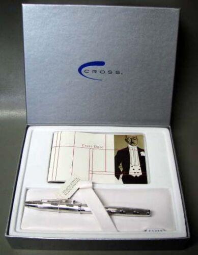 Cross Century II Art Deco Platinum Pl Fountain Pen 18K Gold In Box AT0086C-2MD