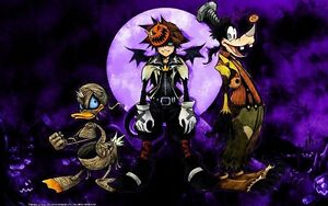Nightmare Before Christmas Sora.Details About Poster Kingdom Hearts 2 Sora Goofy Paperino Nightmare Before Christmas 8