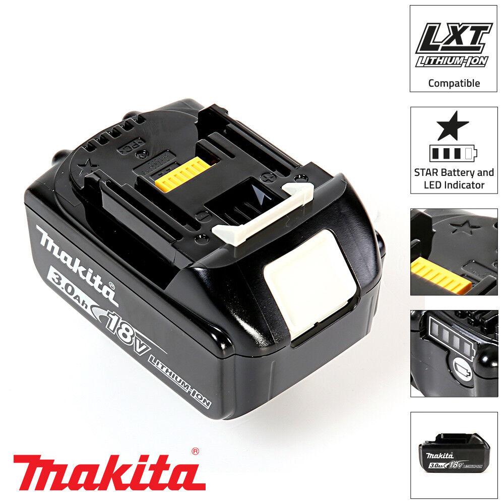 Makita Genuine BL1830B 18V 3.0Ah Li-Ion LXT Battery For Makita DGA452Z, DGA506Z