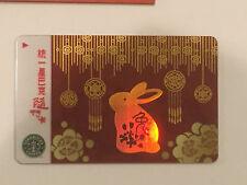 Taiwan 2010 Starbucks Chinese New Year Rabbit Gift Card~w/Bonus Promo Booklet