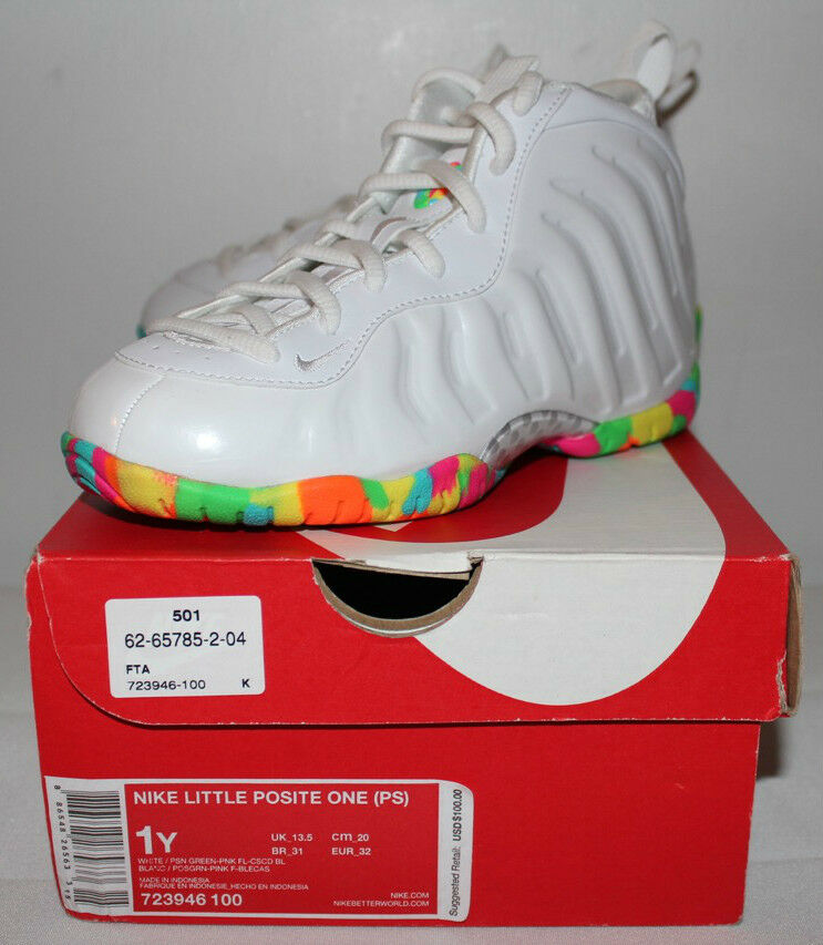 Nike Nike Nike Air Pro Foamposite Fruity Pebbles Sneakers Boy's GS Taille 1Y 2Y 7 7Y New ef31fd