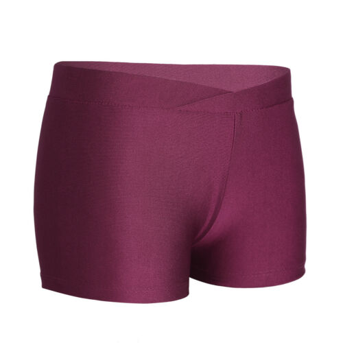 Boy Girl V-front Gymnastics Ballet Dance Shorts Pants Sports Workout Under Dress