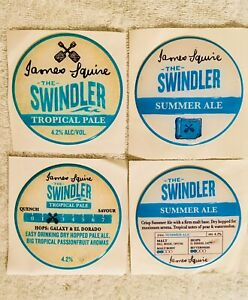 James-Squire-Swindler-Lot-of-4-Acrylic-Sticker-Decal-Tap-Laptap-Mancave-Beer
