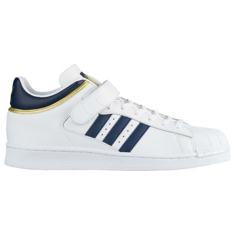 ADIDAS ORIGINALS PRO SHELL BY4383 FTW WHITE/COLLEGIATE NAVY BLUE/GOLD METALLIC