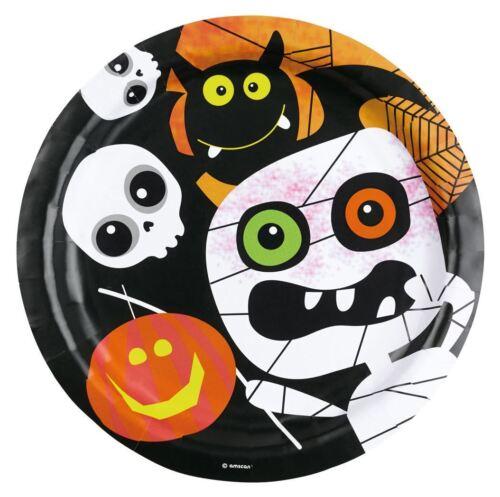 Childrens Calabaza de Halloween Fiesta Vajilla amigable Momia Placas Tazas Servilletas