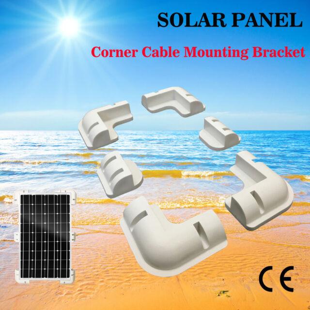 6pcs Solar Panel Kit Corner Cable Mounting Bracket Caravan Motorhome Boat