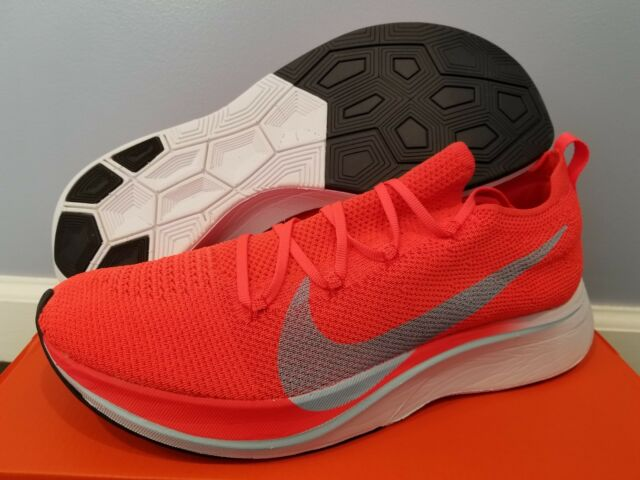 a683e829ed3 NEW Nike VAPORFLY 4% Flyknit Bright Crimson Ice Blue Men s 12.5 marathon IN  HAND