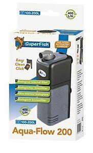 Superfish Aqua-flow 200 Poisson Aquarium Filtre Interne 400l/heure