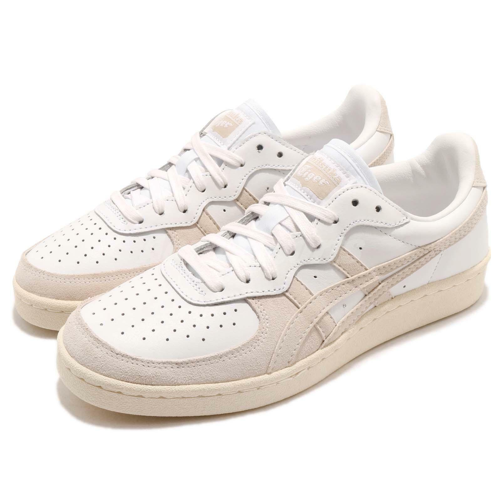 Asics Women Onitsuka Tiger GSM White Beige Men Women Asics Casual Shoes Sneakers D6H1L-0101 796466