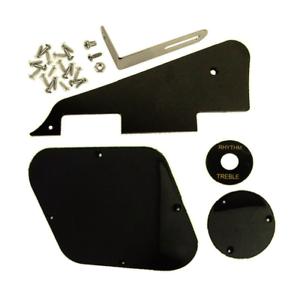 Schalter Abdeckungen Pickup Halterung mit Schrauben für LP Gitarre in Schwarz