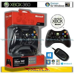 Original-Microsoft-Xbox-360-Wireless-Controller-und-USB-Receiver-Adapter-fuer-PC