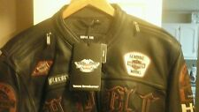 Mens harley davidson leather jacket xl