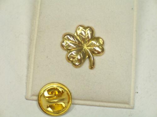 Spilla da giacca pins Quadrifoglio portafortuna in Oro giallo 750-18 Kt