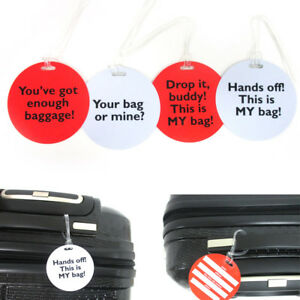 4x-Luggage-Tags-Bag-Label-Name-Address-ID-Suitcase-Vacation-Baggage-Travel-Funny