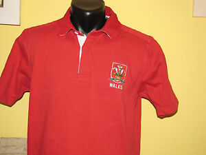 Wales-Rugby-Red-Replica-Polo-Shirt-Size-L