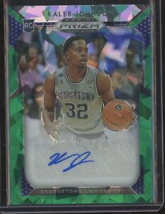 2019-Panini-Prizm-Basketball-KALEB-JOHNSON-GREEN-ICE-AUTO-AUTOGRAPH-RC-04-15
