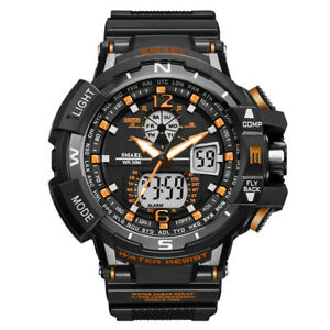 Men-039-s-Sport-Luxury-Army-Military-Waterproof-LED-Resin-Analog-Digital-Wrist-Watch