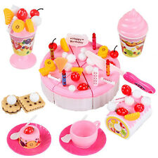 Creative 73Pcs/Set Plastic Kitchen Cutting Birthday Cakes Toy Gift For Girls Kid