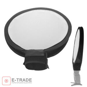"12"" Inch 30cm Round Disc Softbox Diffuser Flash For Flash Speedlite Speedlight"